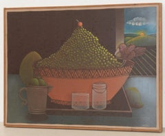 Carveth Hilton Kramer (New York) Whimsical Still Life Oil Painting c.1970s