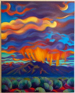 "Tracy Turner Sheppard ""Liquid Light of Sunset"" Oil Painting, circa 2016"