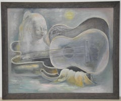 Nura Ulreich Musical Dreamscape Original Oil Painting c.1930