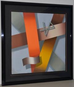 Daniel Heidi Modernist Abstract Serigraph S/N