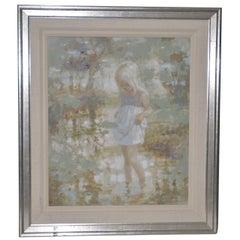 "Harrison Rucker ""After the Rain"" Original Painting c.1970s"