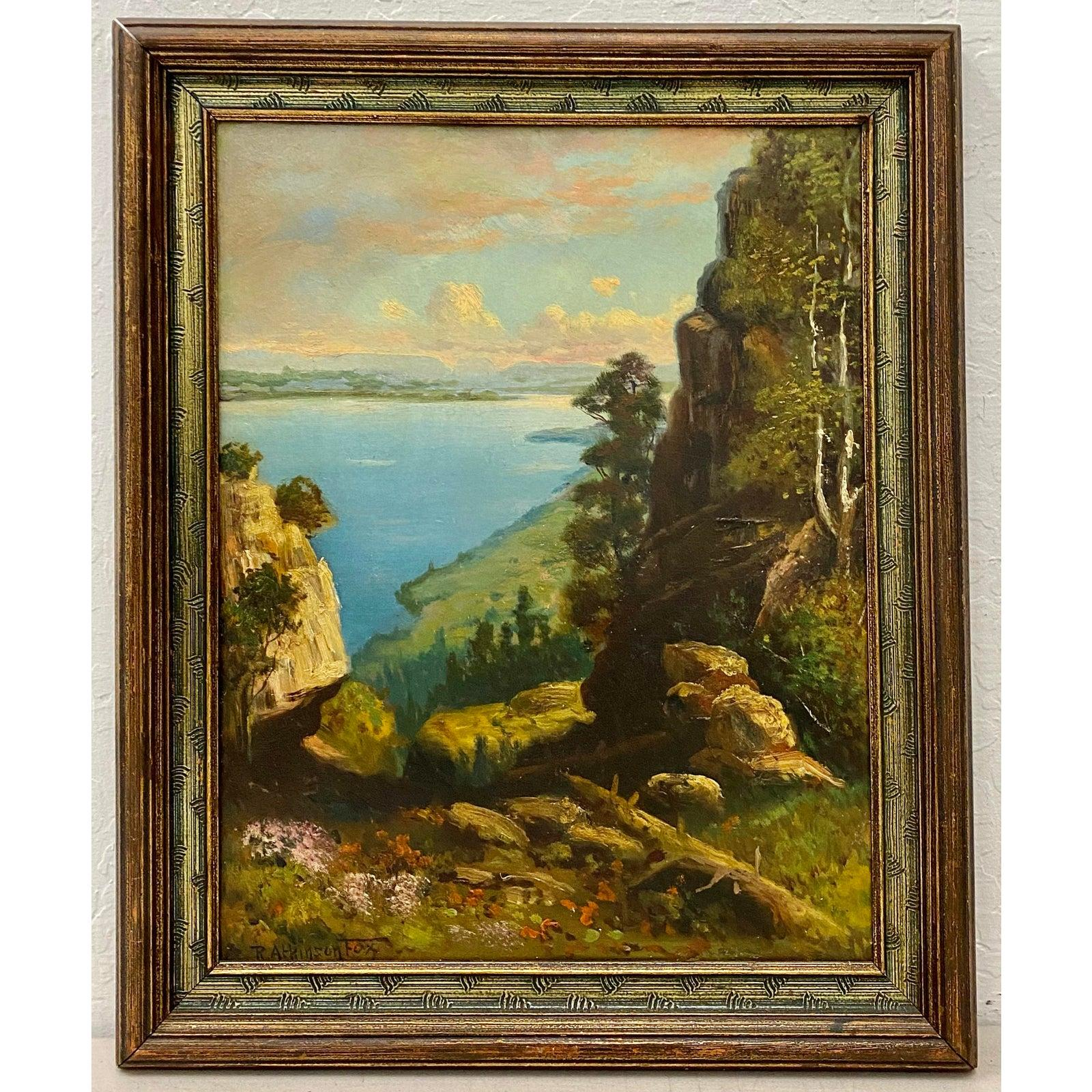 "Robert Atkinson Fox ""Lake Memphremagog"" Oil Painting C.1920"
