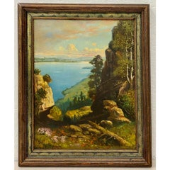 "Robert Atkinson Fox ""Lake Memphremagog"" Oil Painting C.1920"
