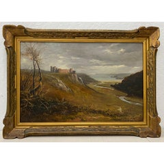 W.W. Goddard 19th Century Painting of Castle Ruins