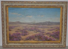 "Robert Weeks ""Desert Verbana"" Original Oil Painting c.1950s"