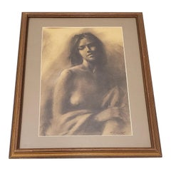 Fine Graphite Portrait of Beautiful Young Woman by R.G. Smith