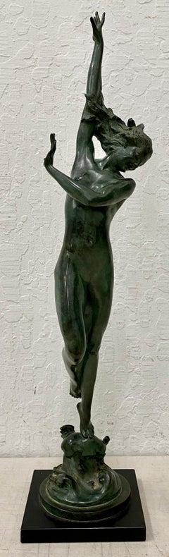 "Harriet Whitney Frishmuth ""Crest of the Wave"" Original Bronze c.1925"