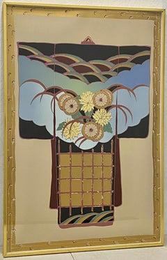 "Melanie Lundquist ""Kimono"" Original Framed Serigraph C.1990"
