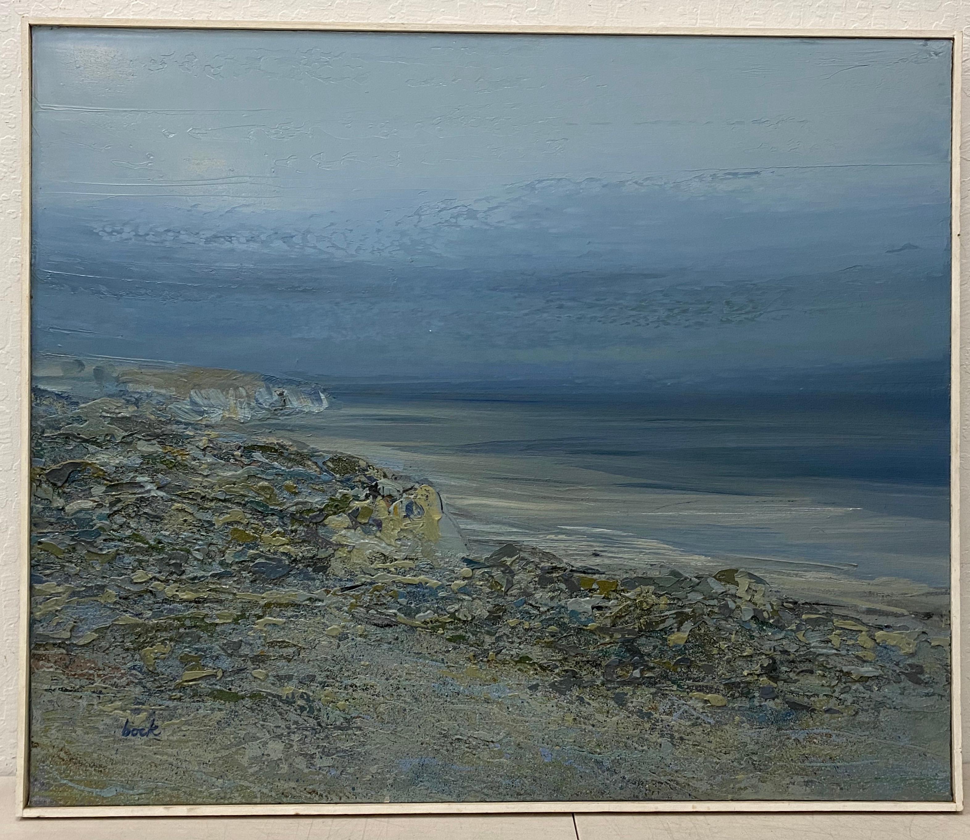 "Edward Bock ""Drakes Estero"" Original Oil Painting C.1970"