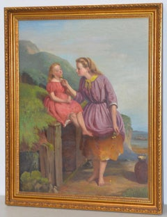 "James Stokeld (1827-1877) ""Buttercup"" Original Oil Painting C.1869"
