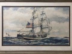 "Darrell McClure ""Mentor of Boston"" Watercolor"