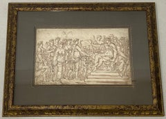 """18th to 19th Century """"Art Presentation"""" Old Master Drawing"""