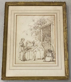 18th to 19th Century Pen and Ink Drawing