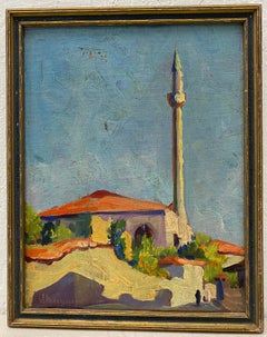"Vladimir Perfilieff ""Scene from North Africa"" Original Oil Painting c.1930"