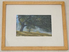 Paul Fortis Windswept Trees Original Pastel