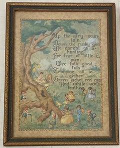 """19th Century """"Fairies, William Allingham Poem"""" Original Illustration C.1890"""