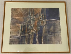 "Robert Andrew Parker Mid Century ""Abstraction"" Original Watercolor C.1960"