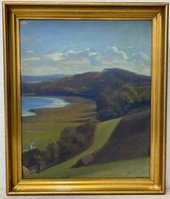 "Carl Stilling ""Coastal Landscape"" Oil on Canvas c.1920"