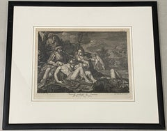 "Carlo Lasinio ""Ermina and the Wounded Tancredi"" Original Etching C.1820"