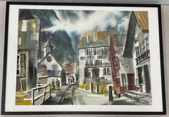 "Jack Laycox ""Alpine Church"" Original Watercolor c.1965"