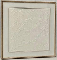 "Ray Rapp ""White on White #2"" Signed Intaglio Print C.1981"