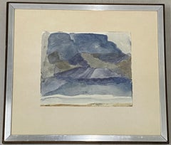 "Norman Adams ""Study at Resipole"" Original Watercolor c.1968"