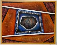 Moises Ramos Mixed Media Abstract Painting 20th Century