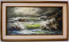 "Kay Kettle ""Below Carmel Highlands"" Original Oil Painting C.1970"