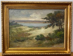 "Bertha Elizabeth Stringer Lee ""Monterey Bay"" Original Coastal Landscape c.1920"