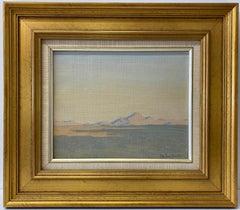 """Helen Clark Chandler """"Western Desert Landscape"""" Oil Painting C.1920"""