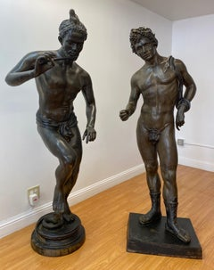 Pair of Life Size Bronze Sculptures by Julius Emil Epple C.1920