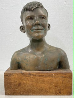 "Rex Dietderich ""Frank, Age 14"" Original Bronze Sculpture c.1970"
