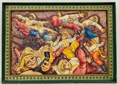 """Richard Whalen """"Ukrainian Dancers"""" Original Oil Painting c.1990"""