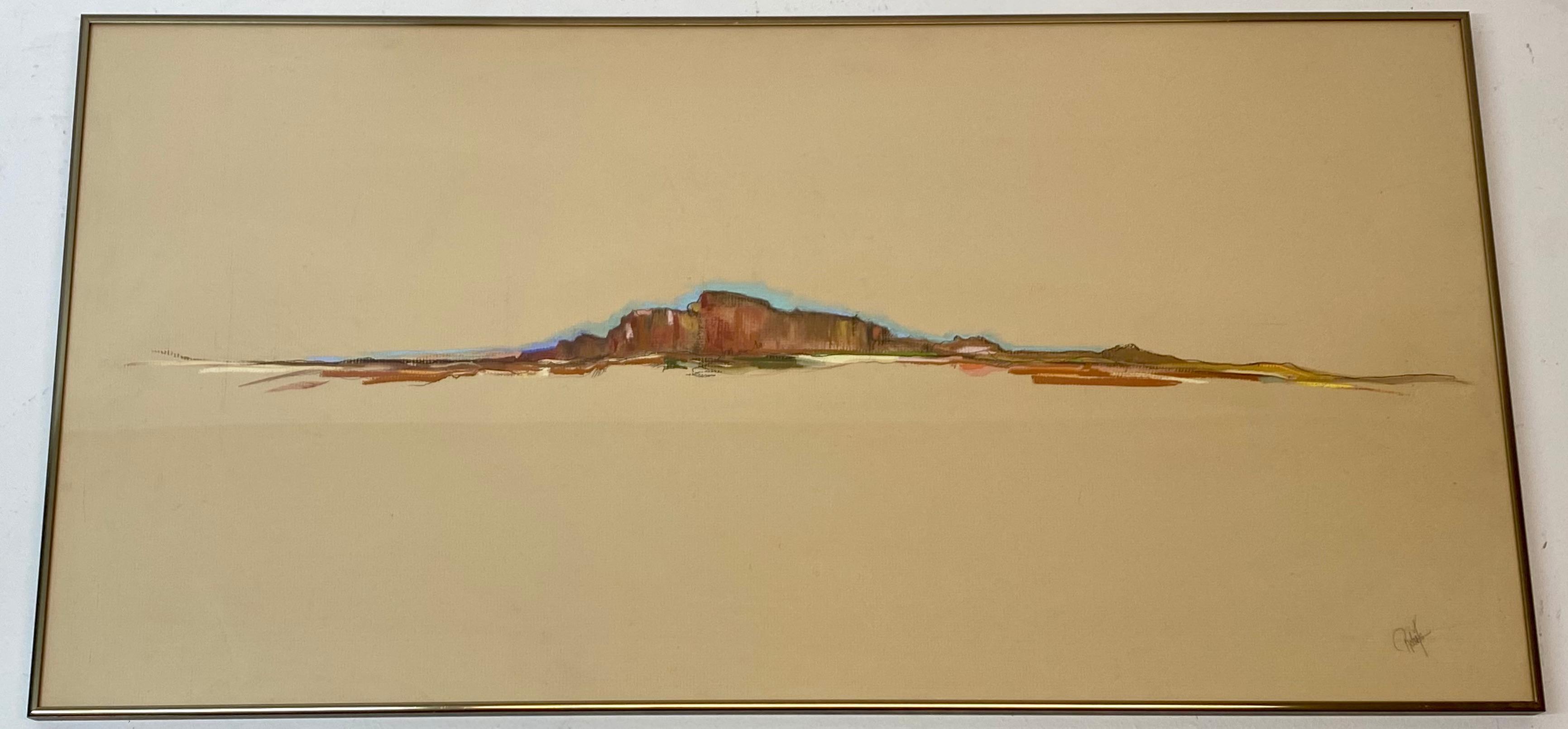 "Dolona Roberts ""Bluffs"" Original Pastel C.1978"