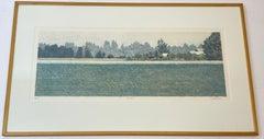 "Mike Pease ""Homestead"" Original Color Lithograph c.1990"