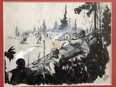 """W.H.D. Koerner """"Silent Paths"""" Original Illustration"""