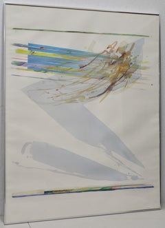 Peter Kitchell (b.1950) Large Scale Abstract Watercolor c.1979