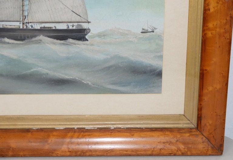 Original Watercolor of the British Ship