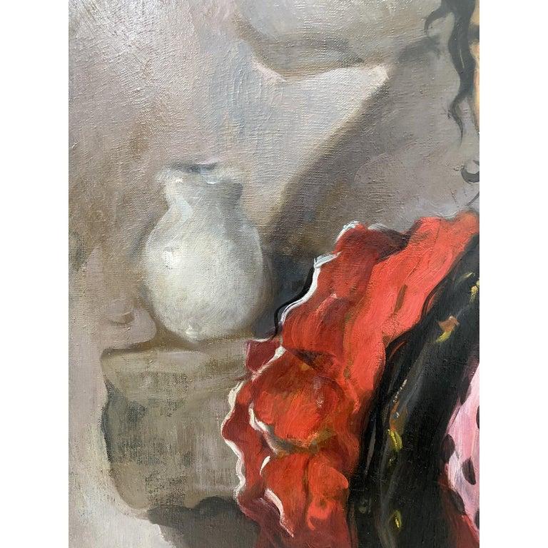 Emilio Molina Nunez (1918-1971) Spanish Dancer Oil Painting c.1950  Original oil on canvas.  Dimensions 29.75