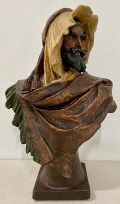 Eduard Stellmacher (1868-1929) Terracotta Bust of an Arab Man C.1900