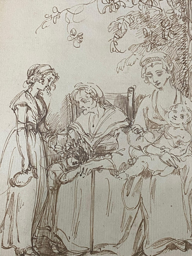 18th to 19th Century Pen and Ink Drawing For Sale 5