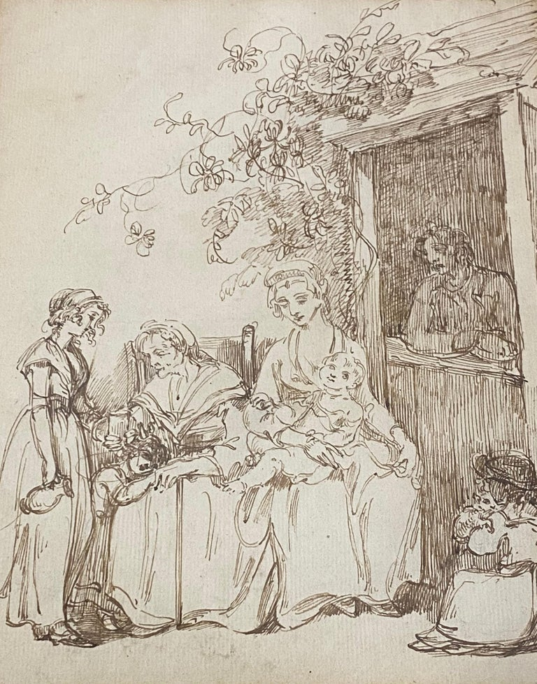 18th to 19th Century Pen and Ink Drawing - Impressionist Art by Unknown