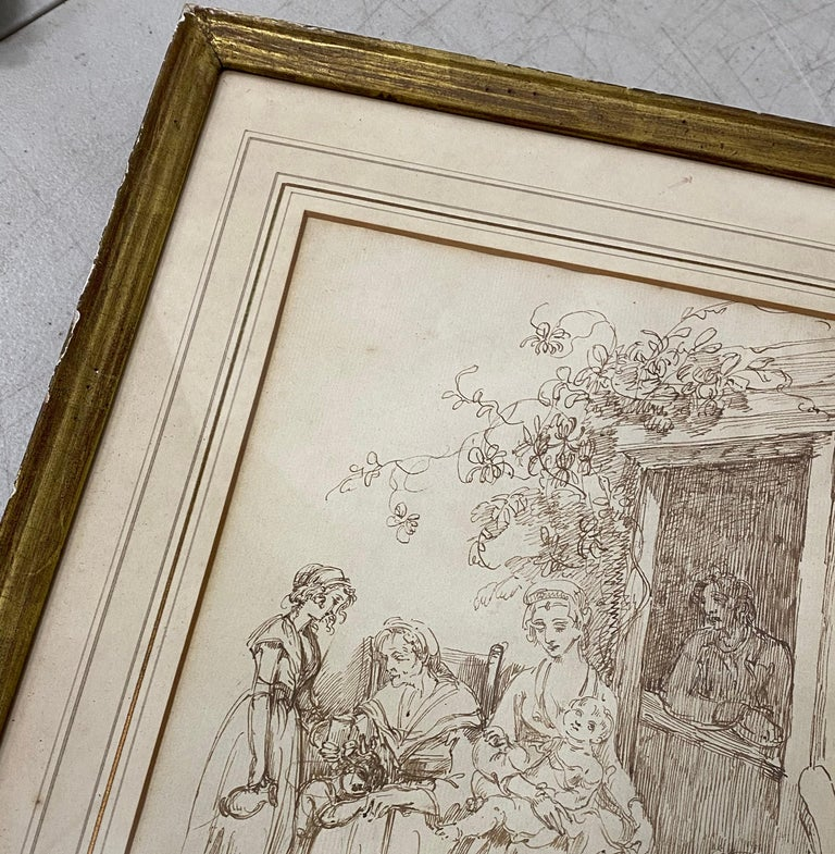 18th to 19th Century Pen and Ink Drawing For Sale 1