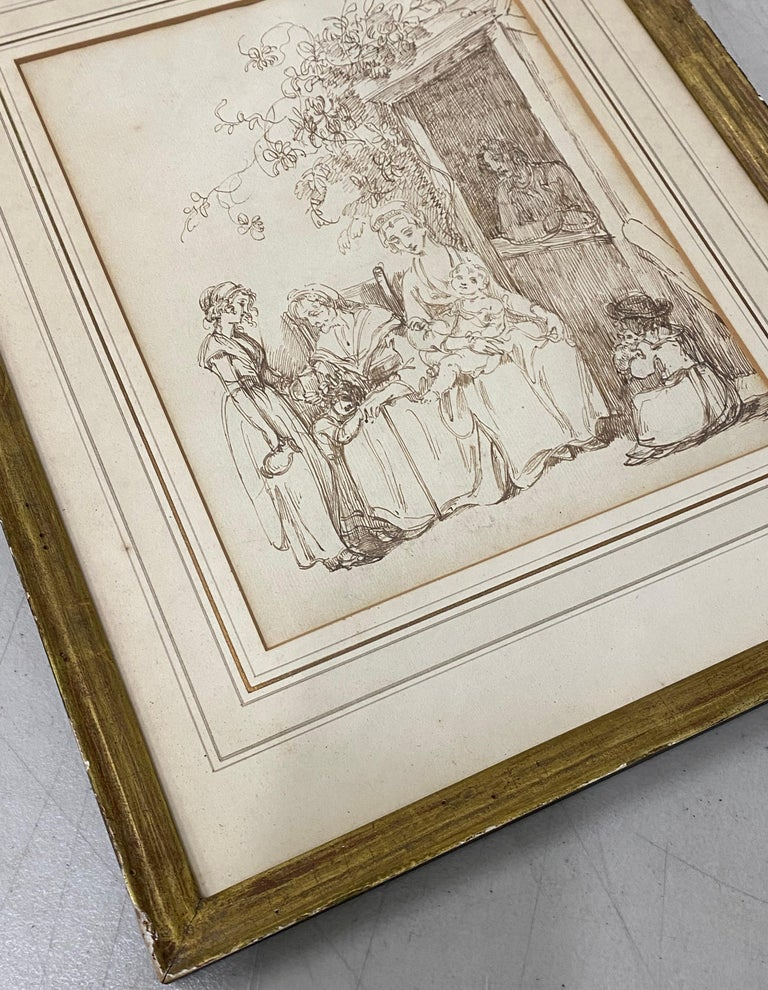 18th to 19th Century Pen and Ink Drawing For Sale 2