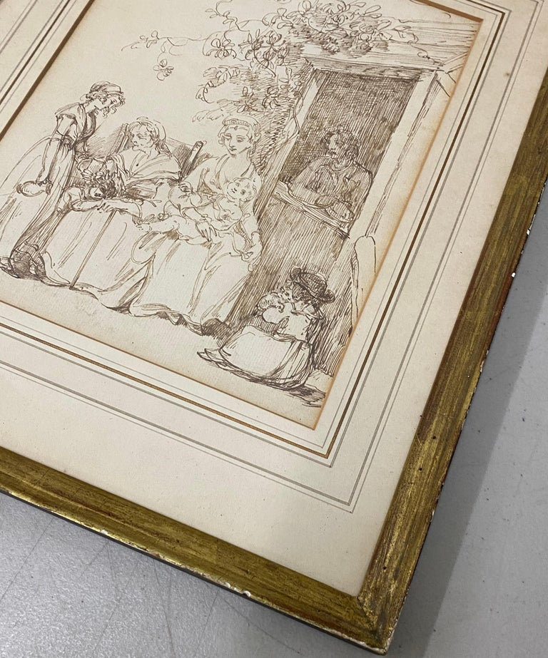 18th to 19th Century Pen and Ink Drawing For Sale 3