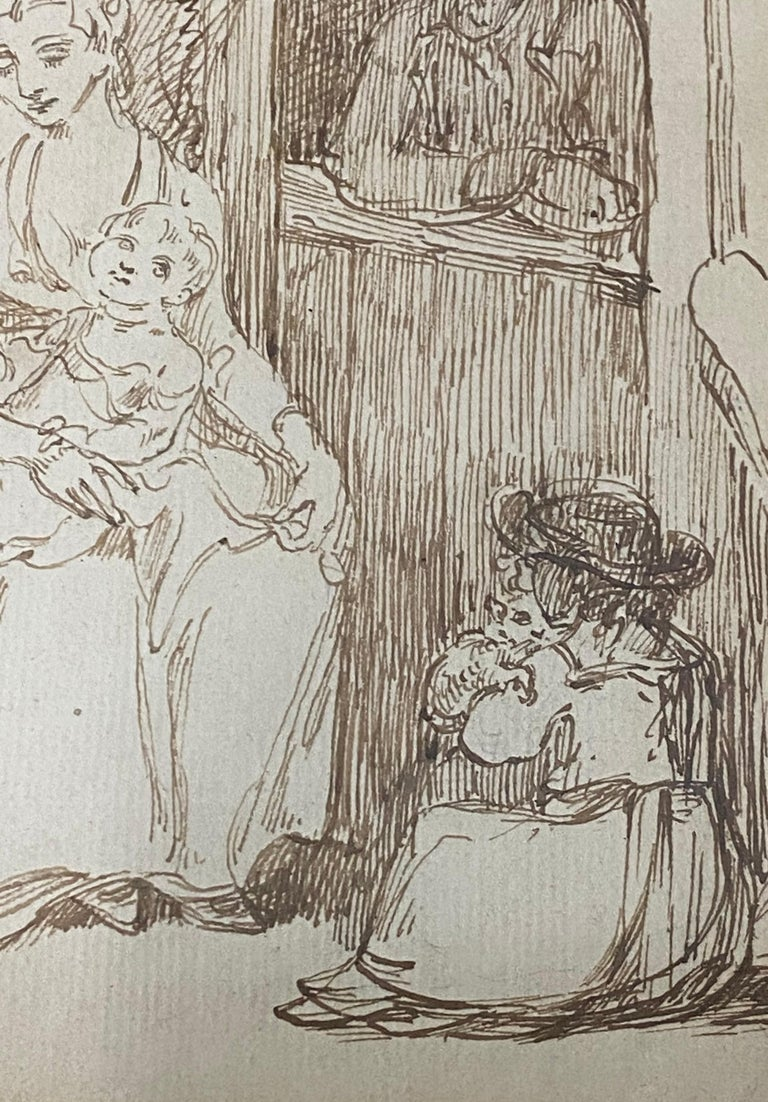 18th to 19th Century Pen and Ink Drawing For Sale 4