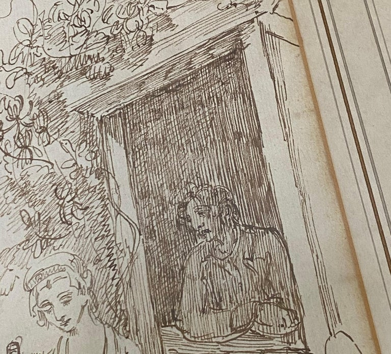 18th to 19th Century Pen and Ink Drawing For Sale 6