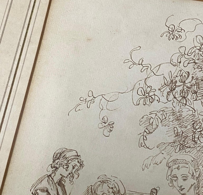 18th to 19th Century Pen and Ink Drawing For Sale 7