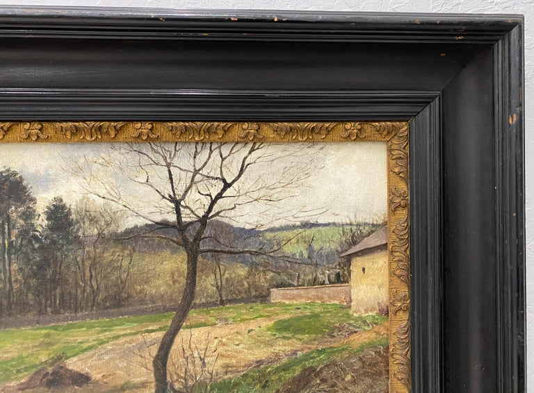 Victor Mytteis Hungarian Country Landscape with Figures c.1902 For Sale 4