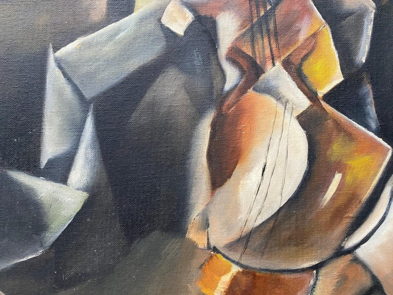 Vintage Cubist Still Life Oil Painting by Al Williams c.1940s to 1950s For Sale 10